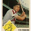 Tito Francona 1963 Fleer #12