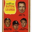 A L Batting Leaders 1962 Topps #51