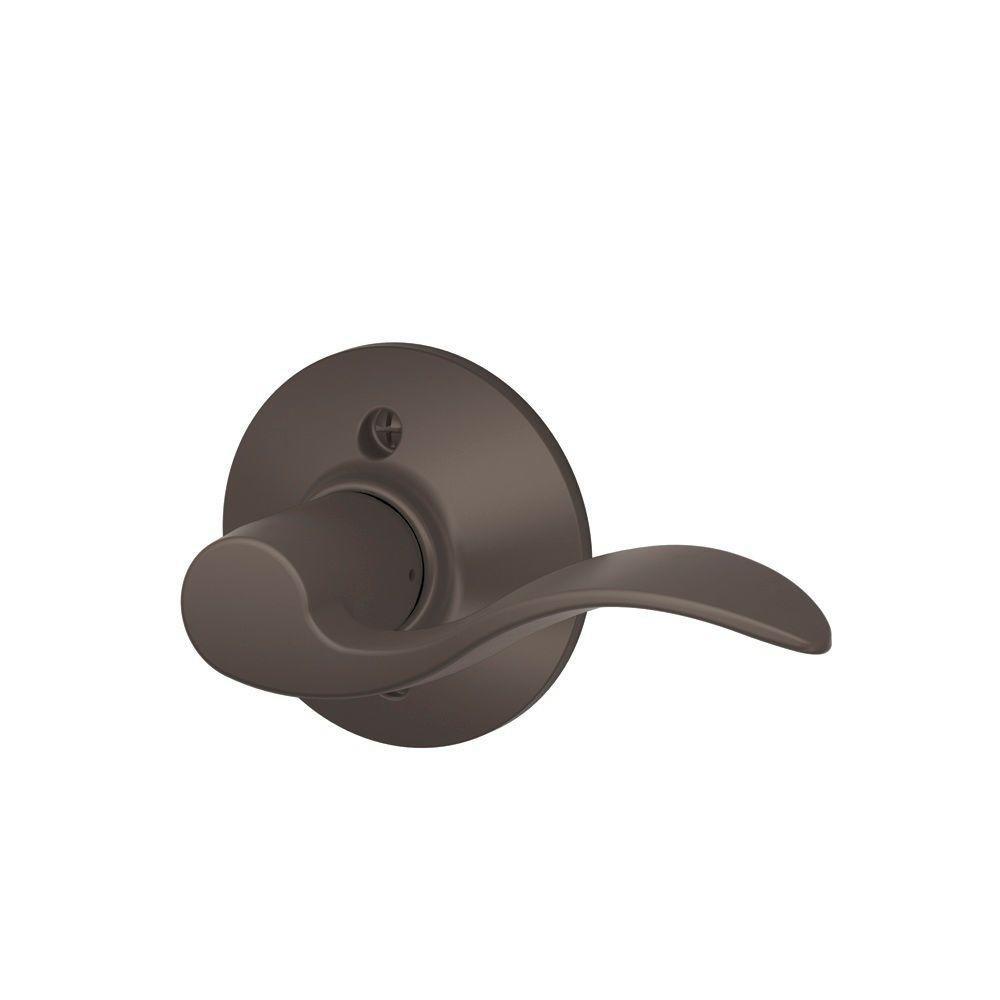 Schlage Dummy Trim Lever Oil Rubbed Bronze F170 ACC 613 RH Right-Hand
