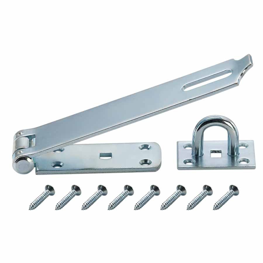 """Hillman Gatehouse 7-1/2"""" Zinc Plated Safety Hasp with Screws #0309009 - BOX OF 5"""