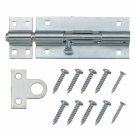 "Hillman Gatehouse 5"" Zinc Plated Barrel Bolt with Screws #0309005 - BOX OF 5"