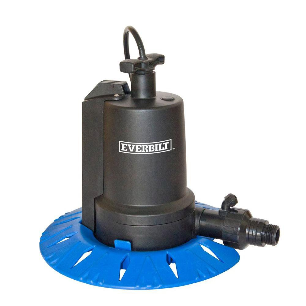 Everbilt ut08804 1 8 hp swimming pool cover pump for Home depot pool pump motor