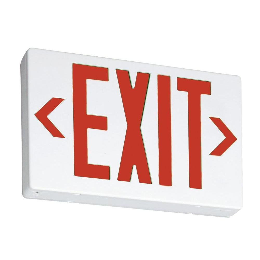Lithonia Lighting EXR LED M6 Thermoplastic White LED Emergency Exit Sign