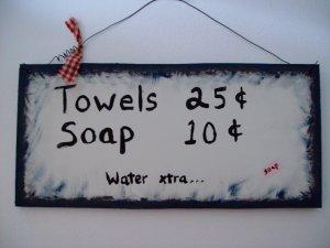 towels...soap