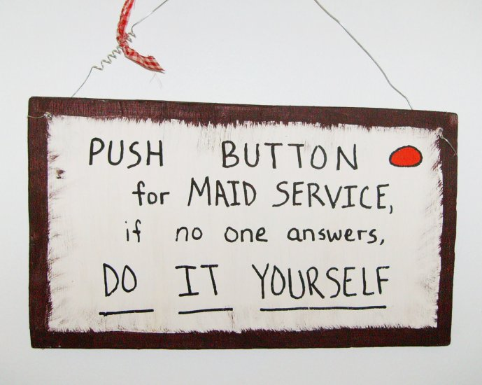 push button for maid service...
