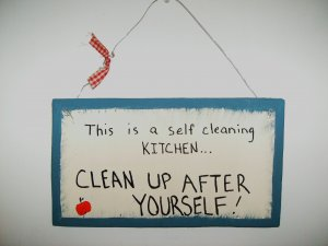 self cleaning kitchen...