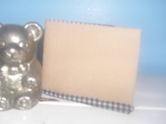 Khaki and Plaid Bi-Fold Wallet