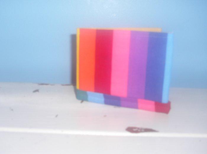 Rainbow Stripe Bi-Fold Wallet