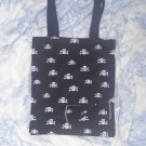 Black and White Skull Mini Tote Bag