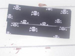 Black and White Skull Tri-Fold Wallet