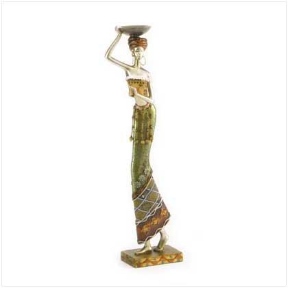 Masai Woman With Tray Figurine
