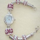 Bracelet Watch Rose and White Pearl