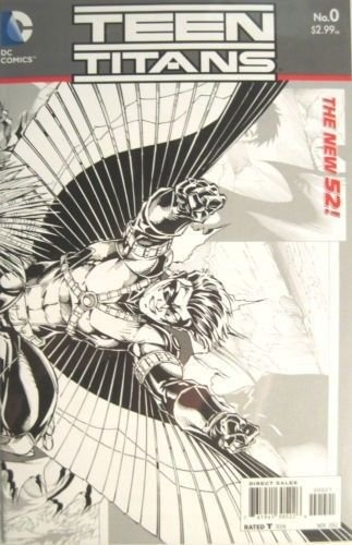 Teen Titans (New 52) #0 Black and White Brett Booth Sketch Variant