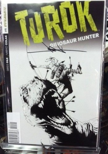 Turok Dinosaur Hunter #1 1:500 Jae Lee Signed Variant COA Edition 2014