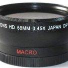 Bower 58mm Wide Angle Lens for Olympus E-620 E-600 E-520 E-510 E-500 E-450 E-420 E-410