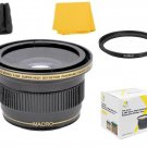 Xit 0.38x FISHEYE Lens For Canon EOS T7i T6i T6s T6 T5i T4i T3i T2i T1i SL2 SL1 T5 T3
