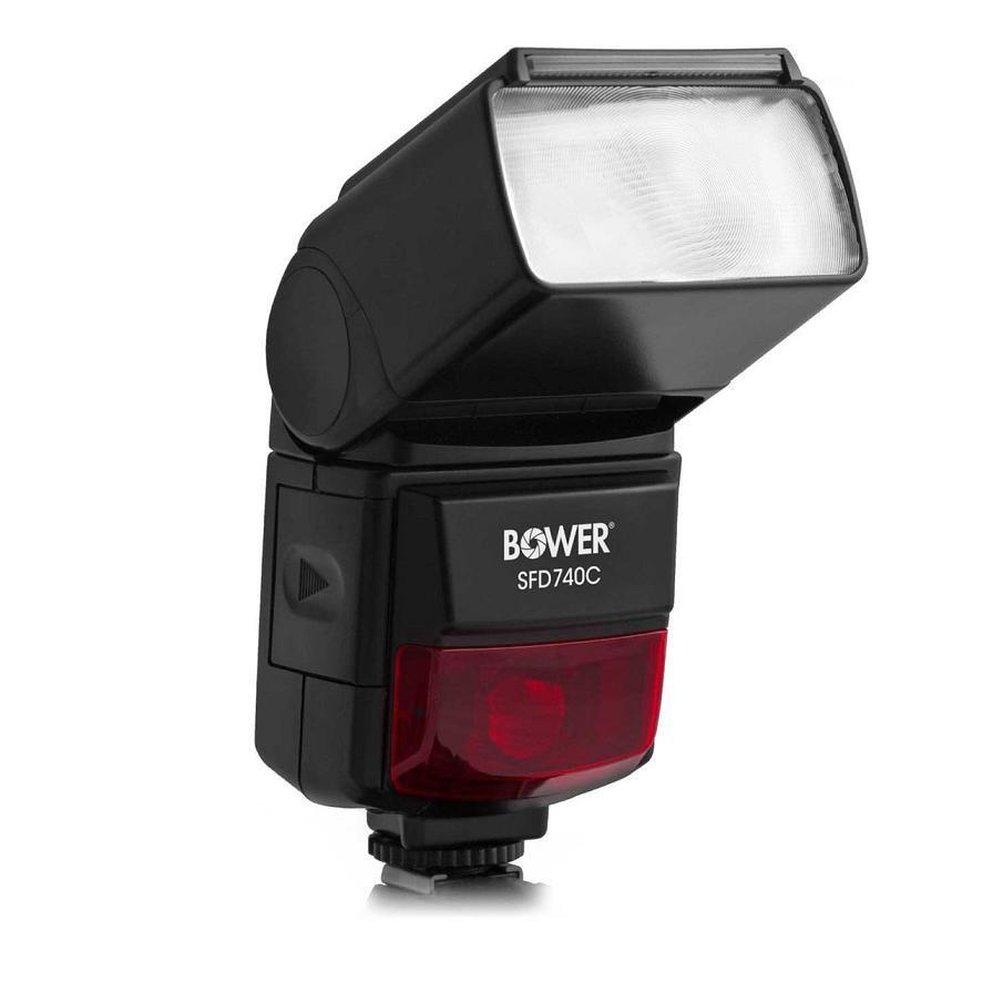 Bower SFD740C Auto-ZOOM Dedicated Flash for Canon EOS DSLR Cameras (Black)