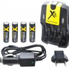 Xit XTCRCH3100 Rapid AA/AAA Battery Charger AC/DC 3100mAh with 4 AA Batteries