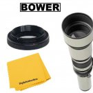 Bower 650-1300mm Manual Focus Telephoto Zoom Lens For Nikon DSLR Cameras