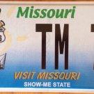Missouri ROUTE 66 license plate Steamboat Horse Race Music Saxo Guitar Tim