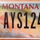 Montana Trout license plate Fish Fishing Fisherman Angling perch Sea Angler