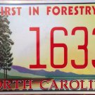 North Carolina First In Forestry license plate Forest Trees Park Tree Wildlife