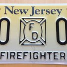 New Jersey IAFF firefighter license plate sample fire station house firefighting
