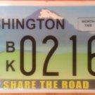 Washington Share the Road license plate  Bike Biking Bicycle Cycling Pedestrian