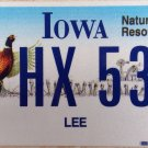 Iowa Pheasant Motorcycle license plate Wildlife Biking Motorbike Harley Davidson
