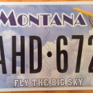 Montana Fly The Big Sky license plate  Aviation Aircraft Plane Flying Pilot Air