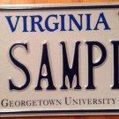 Virginia Georgetown University license plate DC District Columbia D.C. College