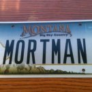 Montana vanity MORT MAN license plate Mortgage Morton Mortal Madagascar Mango