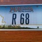 Montana vanity R 68 license plate  Roger Robert Richard Ruth Ryan Raymond 1968