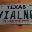 Texas vanity VIAL Vile NO license plate clean Good pleasant obsene evil vulgar