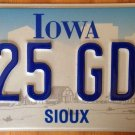 IA SIOUX county license plate Indian tribe Tribal Native American Lakota Nation
