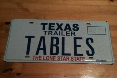 Bon Texas Vanity TABLES License Plate Furniture Table Law IT Game Computer  Database