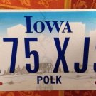 Iowa Polk county license plate 175 XJS James USA President American War graphics