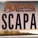 Montana vanity ESCAPADe license plate Adventure Exciting Danger Risk Sex