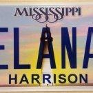 Mississippi vanity ELANA license plate Ilana Ellana Helen Elaine Elanie Elanah