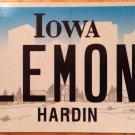 Iowa vanity SEE LEMONS license plate Lemon Fruit Citrus Car Clemons