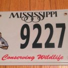 Conserve Wildlife Fish Trout license plate Bass Fisherman Fishing Pole Bait Game