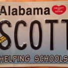 Alabama Educator vanity SCOTTY license plate Scottie Scotland Scottish Scotsman