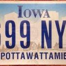 Iowa semi vanity #699 NYY license plate New York Yankees Yankee Baseball NBL