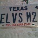 Texas vanity ELViS Me Too license plate Presley Music King Rock Roll Song Sing