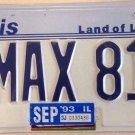 Illinois vanity A Nissan MAXima 810 license plate Car Auto Datsun Bluebird Coupe