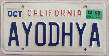 California vanity A YOD HYA license plate God Lord Hebrew