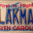 North Carolina vanity BLACK MAN license plate AFRICAN AMERICAN Color Will Smith