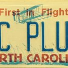 North Carolina vanity PC PLUS license Plate Computer Information Technology IT M