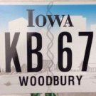 Latest style Iowa Woodbury county AKB 678 black Letter license plate Graphic USA