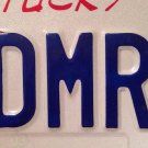 KY Army vanity EDMR 3 US license Plate Military Rank Therapy treatm